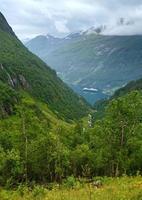 geiranger fjord (norge) foto