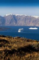 thira fira perissa oia ammoudi thirassia griekenland eiland cycladen foto