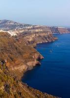 prachtige wateren van Santorini