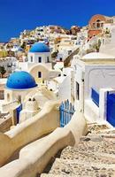 Santorini, Cycladen, Griekenland. foto
