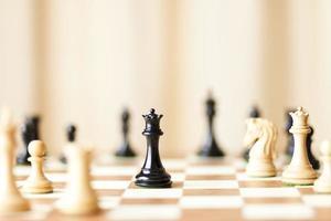 strategische zetten, schaakspel foto