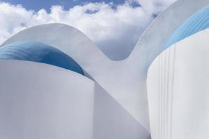 kerk in Santorini foto
