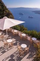 uitzicht op caldera, santorini, griekenland