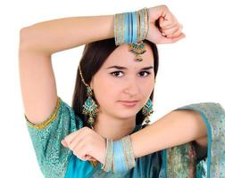 Indiase vrouw portret foto