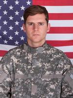 portret van soldaat foto