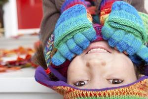 meisje herfst portret foto