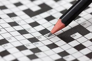 Kruiswoord puzzel foto