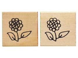 hout met een tekening op bloem