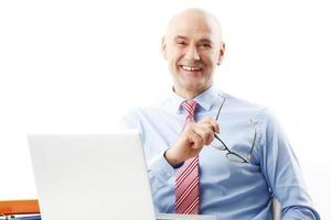 senior zakenman portret foto