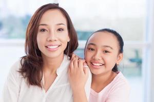 portret van zussen foto