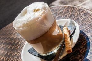 genieten van koffie! foto