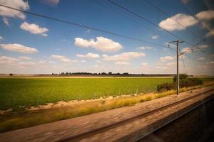 trein om van het landschap te genieten