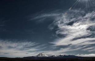 vulkanische lucht foto