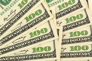 veel dollarbiljetten foto