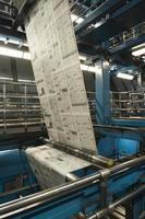 proces van krantenproductie foto