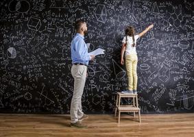 leraar en leerling foto