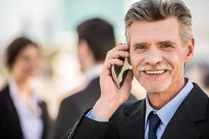 zakenman tijdens een vergadering foto