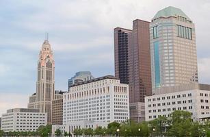 downtown columbus ohio tijdens de lente foto