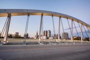 het centrum van columbus ohio hoofdstraat brug skyline scioto rivier hdr foto