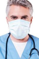 zelfverzekerde chirurg. foto