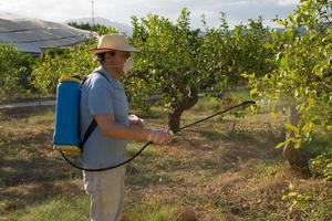 sproeien van pesticiden foto