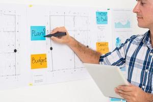 correctie van het businessplan foto