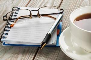 pen en notitieblok foto
