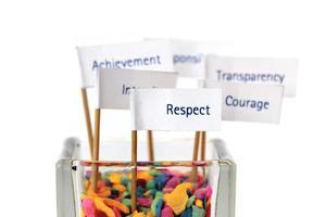 zakelijke kernwaarde, strategie, belangrijkste succesfactor, missie, visie foto