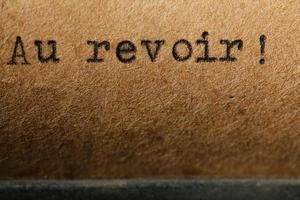 opschrift op een typemachine foto