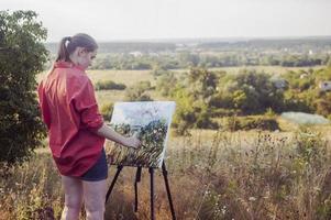 artiest in de open lucht foto