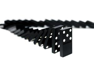 vallende domino foto