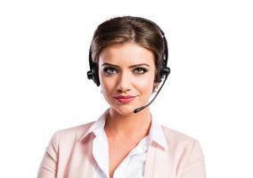 aantrekkelijke jonge zakenvrouw foto