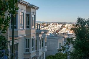 typische woningarchitectuur in San Francisco foto