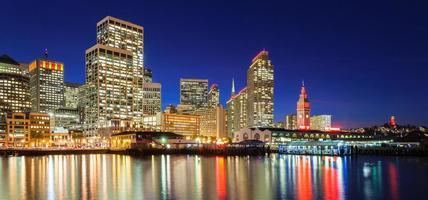 San Francisco in rood en goud foto