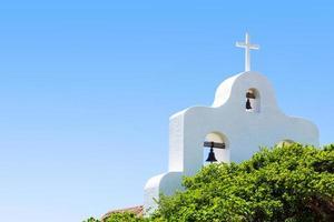 een openlucht San Francisco de Asis-kapel, Mexico foto