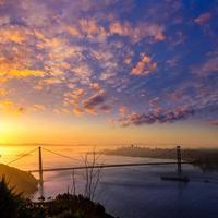 golden gate bridge San Francisco zonsopgang Californië foto