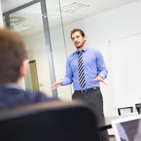 zakelijke presentatie over zakelijke bijeenkomst. foto
