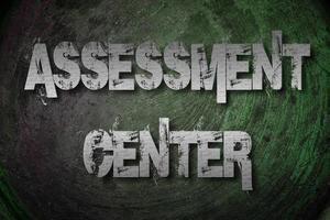 assessment center concept foto