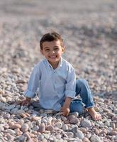 kinderen op het strand foto