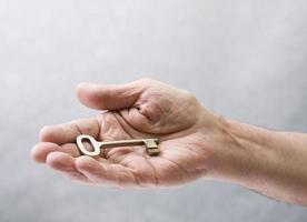 sleutel in de hand foto