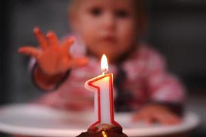 baby meisje eerste verjaardag foto