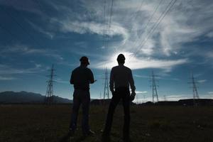 ingenieursvergadering bij krachtcentrale foto
