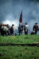 de bondgenoten verdedigen de vlag, foto