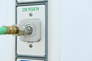 zuurstofuitlaat in operatiekamer foto