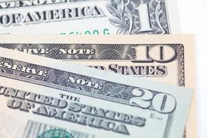de dollar biljetten voor zakelijke en financiële concept foto