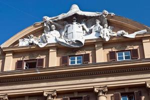 over rome / italiaanse schatkist / italië / ministerie van financiën / palazzo finanze foto