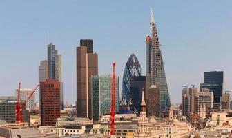 city of london een van de toonaangevende centra voor wereldwijde financiën. foto