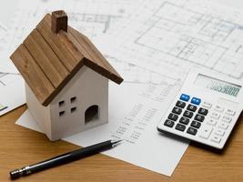 het schatten van bouwkosten van een huis foto
