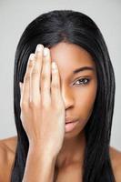 zwarte schoonheid met een perfecte huid
