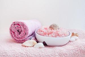 spa-behandelingen, roze foto